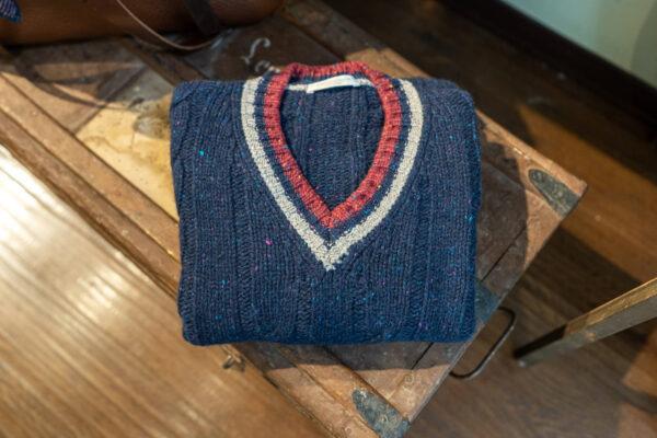maglione scollo a V BLU